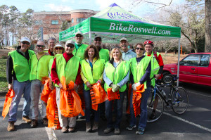 Bike Roswell Three Vistas Road Clean Up