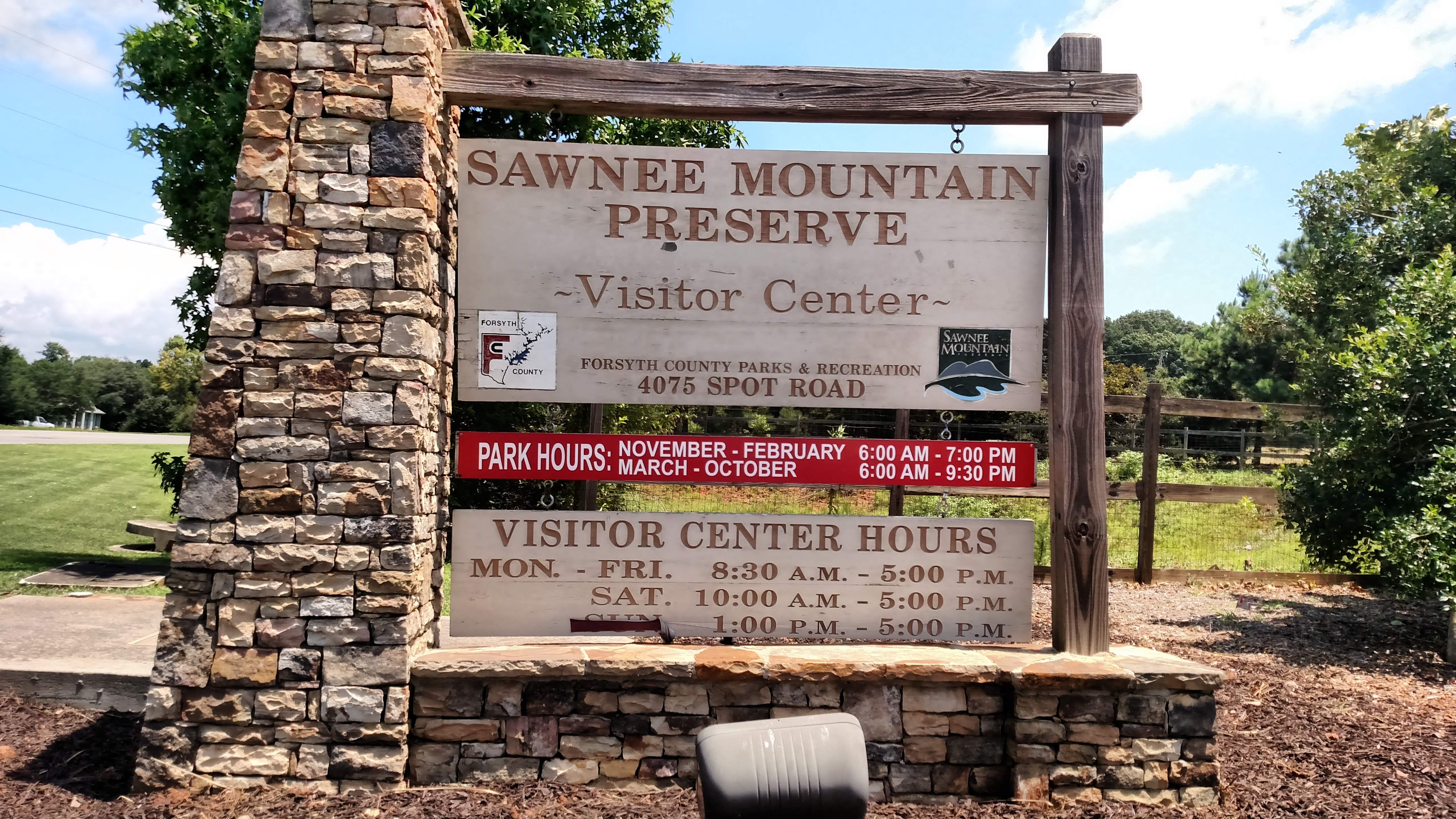 Sawnee Mountain Preserve on Spot Road, the ultimate destination of the Big Creek Greenway!