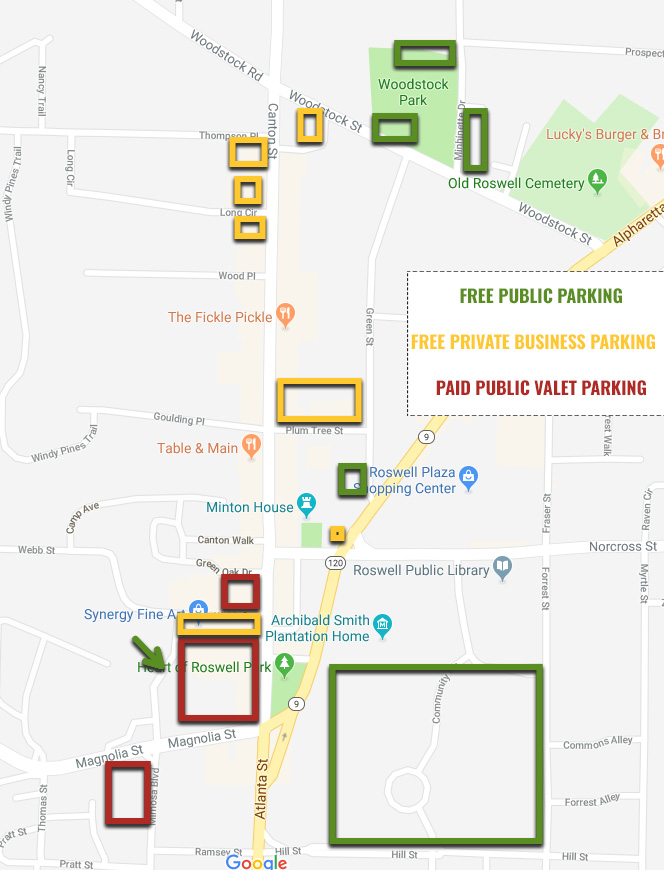 Roswell Moves Parking