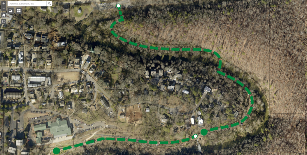 RoswellGIS Vickery Creek Map 2 - Mill Falls to Oxbo Road-01