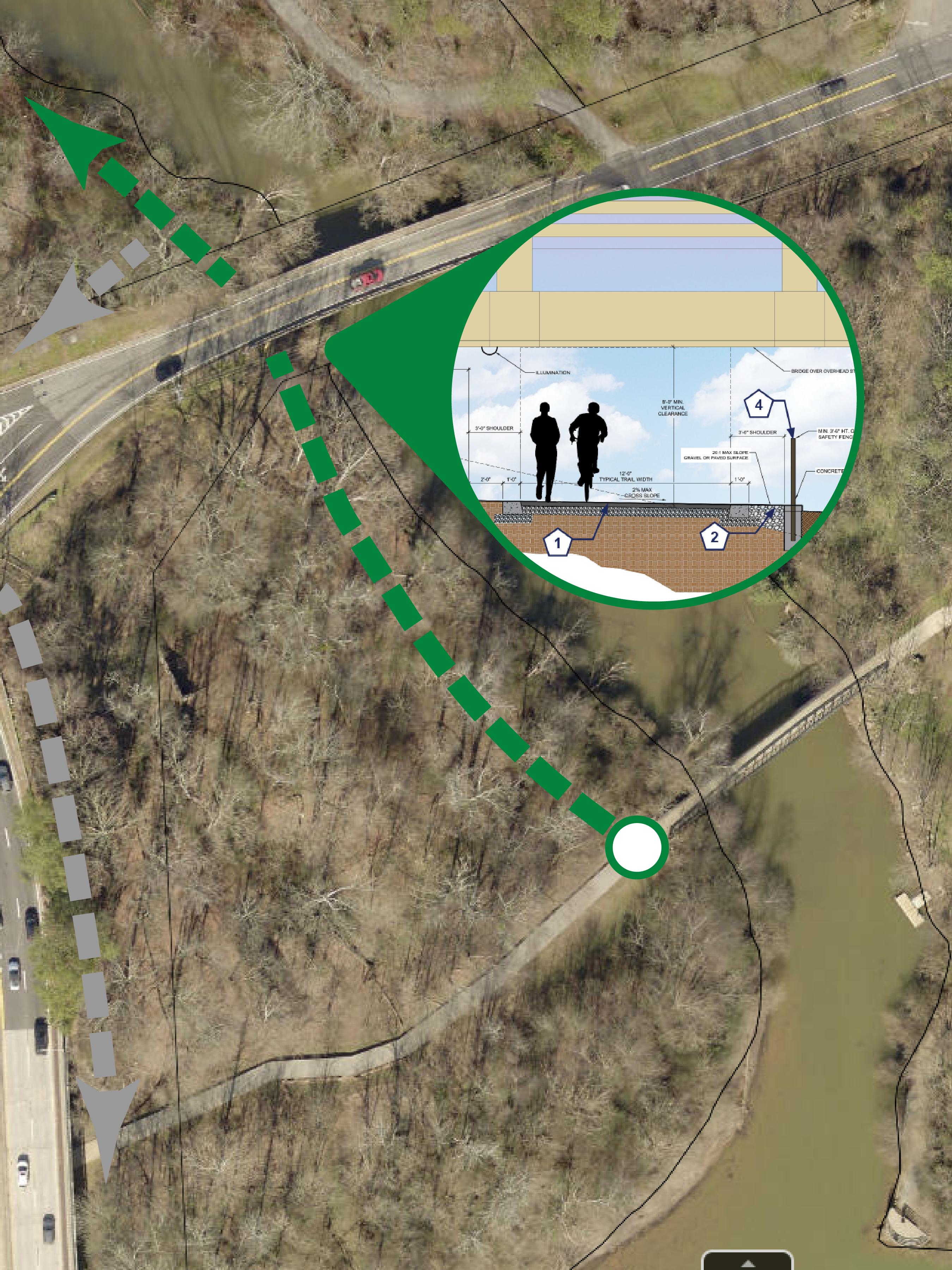 RoswellGIS Vickery Creek Map 2 - riverwalk to allenbrook-01
